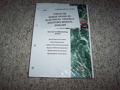 1999 land rover range rover electrical wiring diagrams manual 40 46 v8 se  hse  ebay