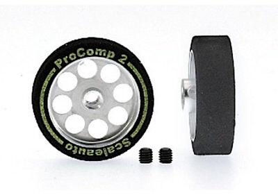 Räder Schaum 24.5 X 8mm Achse 3mm Felge 19mm Procomp-2 Scaleauto Jade White Kinderrennbahnen
