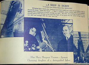 Details about 1945 USS MISSOURI BB-63 WWII SHAKEDOWN/MAIDEN CRUISE BOOK  BULL HALSEY 3RD FLEET