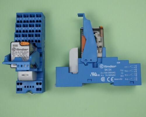 58.54.8.230.0060 Zugfeder Finder Koppel Relais 230V AC 4 Wechsler 7A K