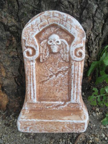 "plaster concrete free standing mini Tombstone skull poly plastic mold 7/""H x 4/""W"