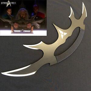 Star-Trek-High-Quality-Full-Metal-Sword-of-Kahless-Bat-039-leth-440-Stainless-Steel
