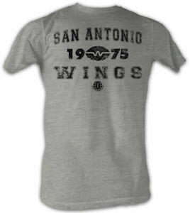 San-Antonio-Wings-WFL-1975-Logo-Men-039-s-Lightweight-Tee-Shirt-Sizes-S-5XL