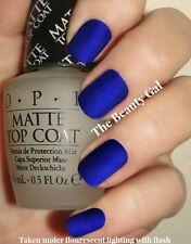 OPI Lot~Royal Blue Matte®~St. Mark's The Spot Nail Polish & Matte Top Coat Duo