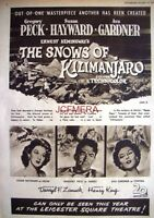 'The SNOWS of KILIMANJARO' Original 1952 Film Advert - Gregory Peck Movie Ad