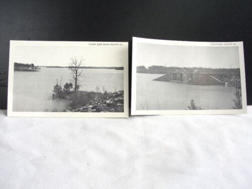 Dam Divided Back POSTCARDS 2 Vntg Mid-century Buford Georgia GA Lake Lanier