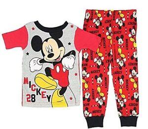 Disney-Mickey-Mouse-Boys-Toddler-Pajama-Set-Size-2T-4T-5T-NWT
