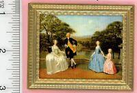 Dollhouse Miniature Art family Portrait By Jacqueline's