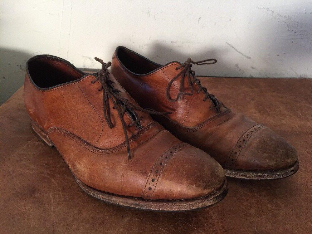 Brooks Brougehers Homme en Cuir Marron Cap Toe Richelieu à Chaussures Oxford Taille 9 D USA
