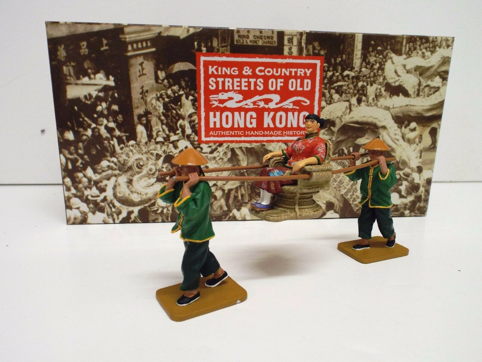 KING AND COUNTRY HK173 HK173 (S) M S.O.O.H.K SEDAN CHAIR SET RETIRED BOXED (BS2111)