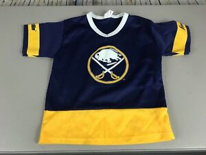 Boy s   Kids Buffalo Sabres Jersey Size M Blue VTG Franklin NHL ... 4c647ce46