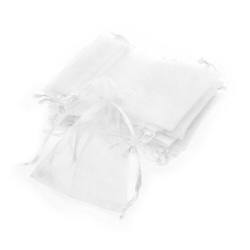 24 X White Organza Wedding Favor Gift Pouch Bag Jewelry 7x9cm N4G3