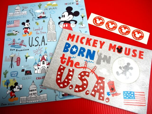 mickey mouse 8 4x letter pad envelope sticker collection stationery