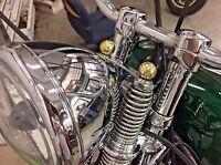 Brass Balls Dna Springer Decorative Top Spring Nuts Chopper Bobber Retro Old