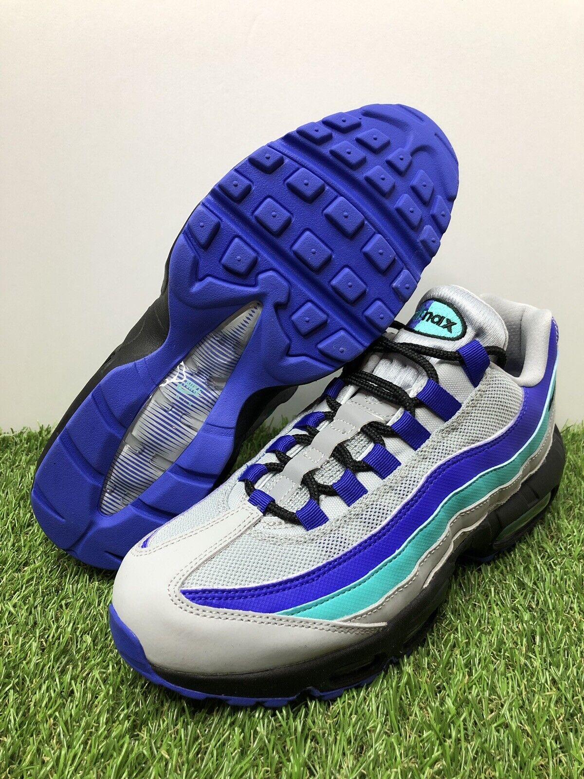 Nike Air Max 95 OG Mens 7   Womens 8.5  Aqua Wolf Grey Black-Indigo