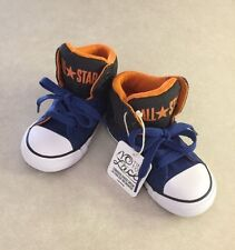 "CONVERSE ""CT ALL STAR High Street"" Toddler Boy's Black/Blue Sneakers~~Size 10"