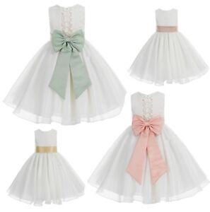Ivory-Flower-Girl-Dress-Wedding-Pageant-Dress-Baptism-Dresses-Communion-Dresses