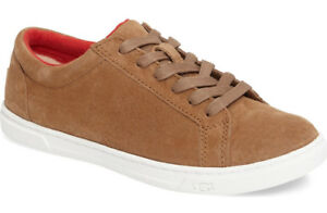 bec7948e80f Details about NIB UGG Women Karine Lace-Up Suede Leather Sneaker US 9.5/EU  40.5 Chestnut Brown
