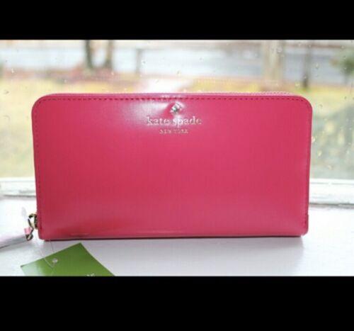 Kate Spade New York Tudor City Lacey Zip Around Wallet Ringwald Pink NWT