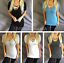 Criss-Cross-Strappy-Scoop-Neck-Oversized-Tunic-Short-Sleeve-Tee-T-Shirt-Top thumbnail 1