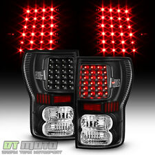 2007-2013 Toyota Tundra Black LED Tail Lights Brake Lamps Left+Right Aftermarket