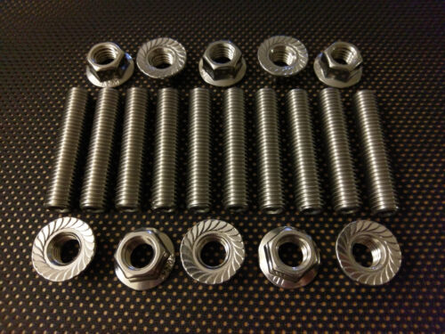 BMW MINI COOPER S 2nd 3rd GEN STAINLESS EXHAUST MANIFOLD STUDS /& FLANGE NUTS