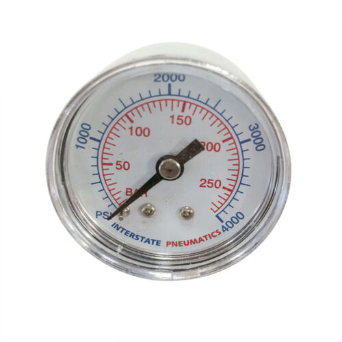 "1-1//2/"" 4000PSI 1//8/"" NPT Rear Mount Pressure Gauge Chrome Body G2101-4000"