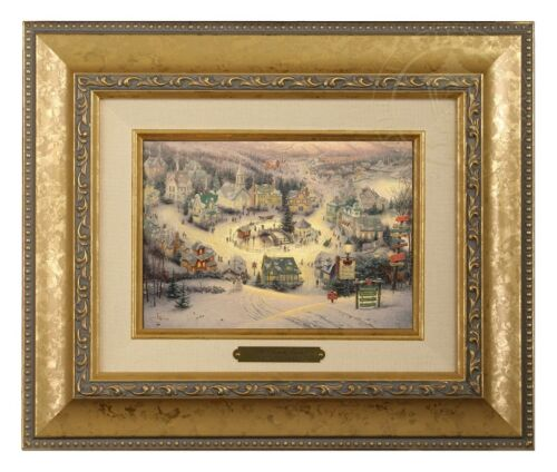 Gold Frame Thomas Kinkade St Nicholas Circle 5 x 7 Brushwork