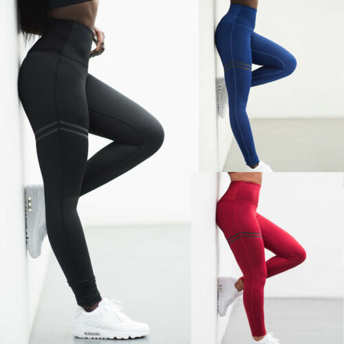 Women High Waisted Yoga Leggings Stretch Fitness Ladies Sports Gym Pant Trouser