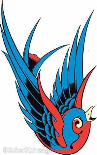 Blue Bird STICKER Decal PP10R Right Facing