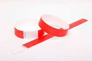 "200 Plain Gold 3//4/"" Tyvek Paper Wristbands for Events,Festivals,Parties"