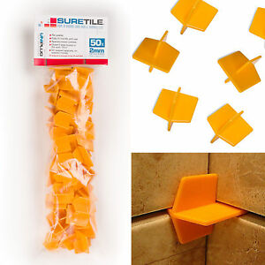 Suretile 50 Pack  2mm ReUsable Tile Spacers For Floors amp Walls - <span itemprop=availableAtOrFrom>Mirfield, West Yorkshire, United Kingdom</span> - Returns accepted Most purchases from business sellers are protected by the Consumer Contract Regulations 2013 which give you the right to cancel the purchase within 14 da - Mirfield, West Yorkshire, United Kingdom