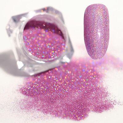 Light Purple Holographic Holo Laser Dust Powder Shining Nail Art Glitter Powder