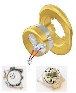 sistema per serrature defender Monolito BD200 acciaio cromo satinato