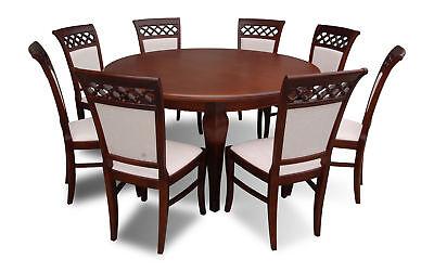 Runder Tisch Rundtisch Holztisch Rund Konferenztisch Besprechungstisch 8 Stühle Gut FüR Antipyretika Und Hals-Schnuller Büromöbel