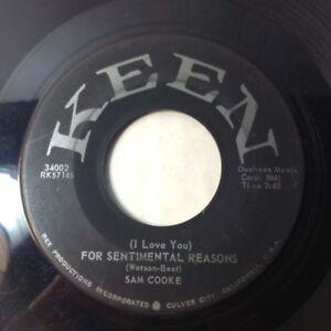 SAM COOKE 45 For Sentimental Reasons / Desire Me 1958 R&B ...