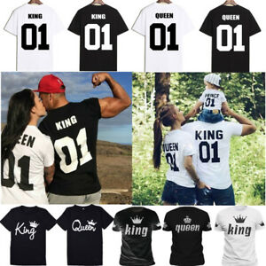 27504a169e Couple Tops T-Shirt Matching Set Sweet Family Love King & Queen ...