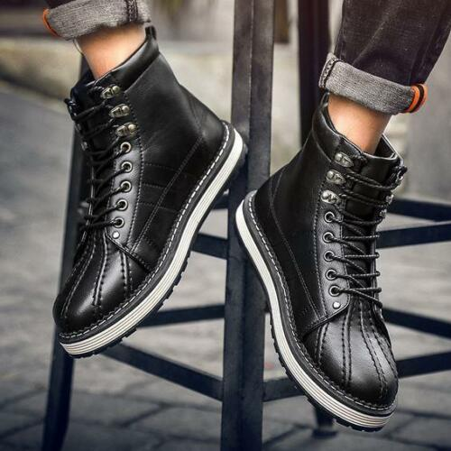 New fashion Mens Lace Up High Top Desert Ankle Boots Business Casual Spors Shoes