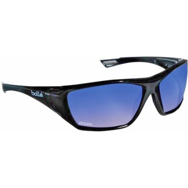 Lunettes de soleil Hustler version flashée bleue polarisante Bollé Safety sport