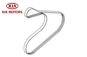 Genuine Kia Picanto 2011-2015 Drive Belt With Air Conditioning