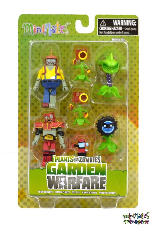 Plants vs Zombies Minimates Garden Warfare Series 2  scatola Set  punto vendita