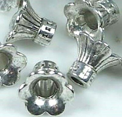 20 Antiqued Silver Plated Pewter 14x8mm Bead Cap Cones to Fit 8-10mm Beads