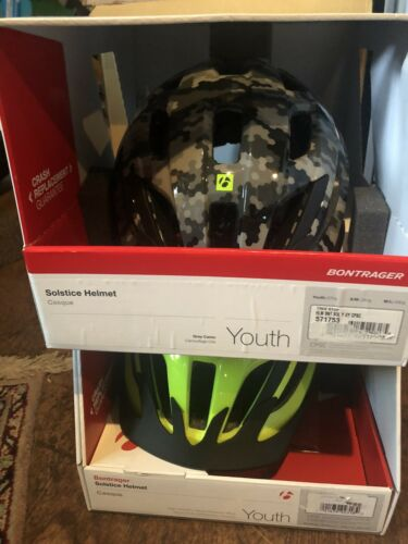 New BONTRAGER Solstice Youth Helmet Size 50-55cm Yellow or Camo