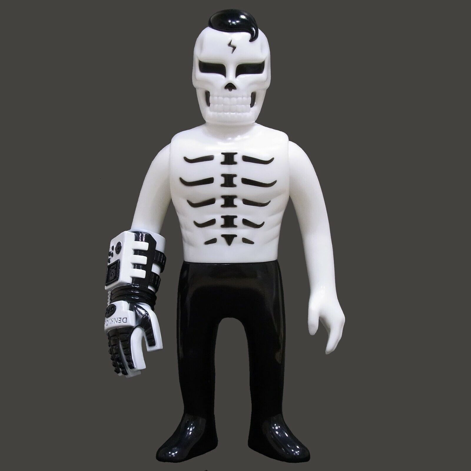頭蓋骨おもちゃguy - 2白x黒-Sofubi sofvi?ソフトビニール