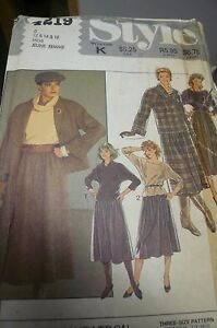 Sewing-pattern-by-Style-4219-part-cut-to-size-14-pullover-top-amp-Skirt-amp-Jacket