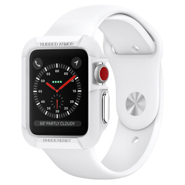 new concept d6958 e0324 Spigen Factory Outlet Apple Watch Series 1 42mm Case Rugged Armor White