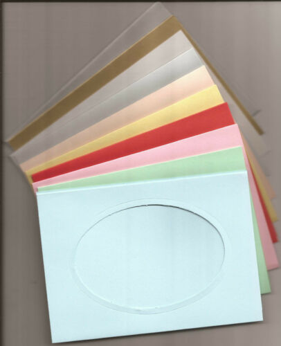 """6/"""" x 4/"""" Oval Window//Aperture Card Blanks Perfect for your DIY Greetings Cards"""