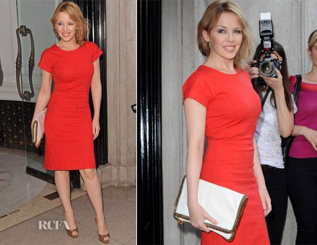 Stella McCartney Kylie Minogue Rosso Abito da cocktail UK8 US4, IT42 rrp495GBP NUOVO