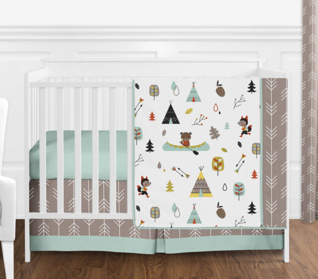 Outdoor Adventure Nature Baby Bedding 4pc S Or Boys Crib Set By Sweet Jojo Designs