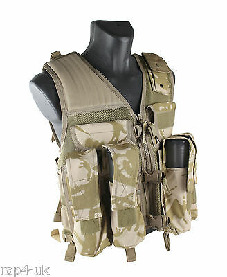 USMG Strikeforce Tactical Camo Vest modified to use for Paintball and Airsoft